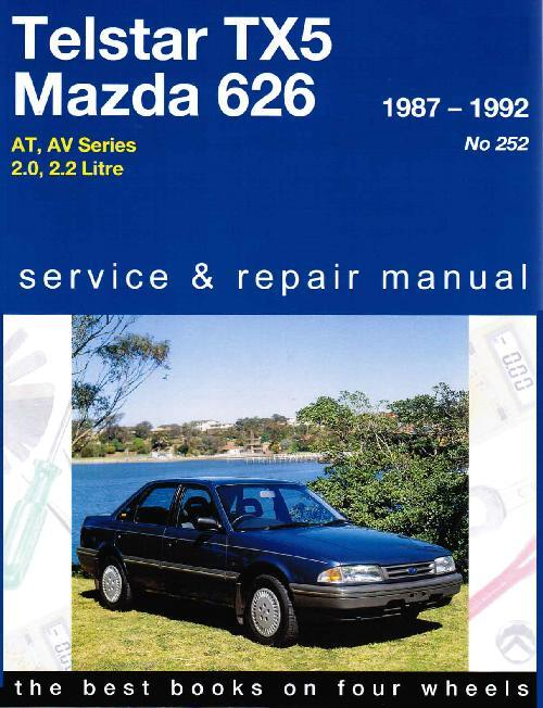 Ford Telstar TX5 & Mazda 626 1987 - 1992 Gregorys Owners Service & Repair Manual - Front Cover