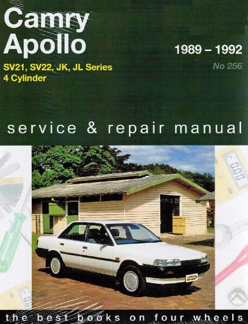 Toyota Camry & Holden Apollo 1989 - 1992 Gregorys Owners Service & Repair Manual - Front Cover