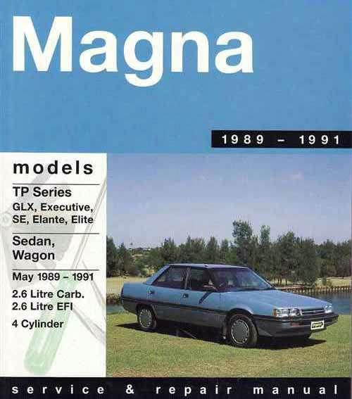 Mitsubishi Magna TP Series 1989 - 1991 Gregorys Owners Service & Repair Manual - Front Cover