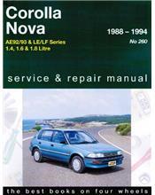 Toyota Corolla AE92 / AE93 & Holden Nova LE / LF 1989 - 1994