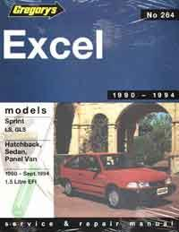 Hyundai Excel 1990 - 1994 Gregorys Owners Service & Repair Manual - Front Cover