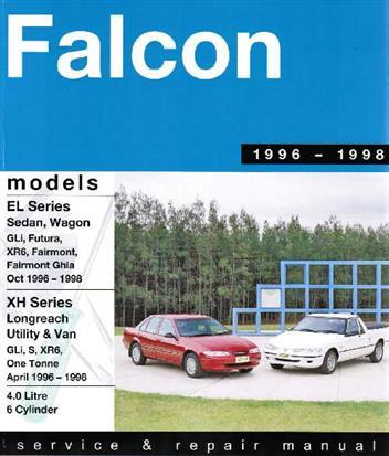 ford falcon el & xh ute van 1996 - 1998 gregorys owners service & repair  manual