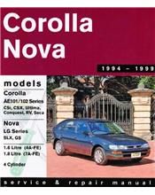 Toyota Corolla & Holden Nova 1994 - 1999 Gregorys Owners Service & Repair Manual