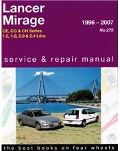 Mitsubishi Lancer & Mirage CE, CG & CH Series 1996 - 2007
