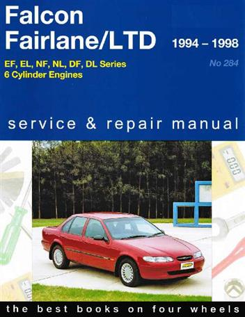 Ford Falcon / Fairlane / LTD 1994 - 1998 Gregorys Owners Service & Repair Manual - Front Cover