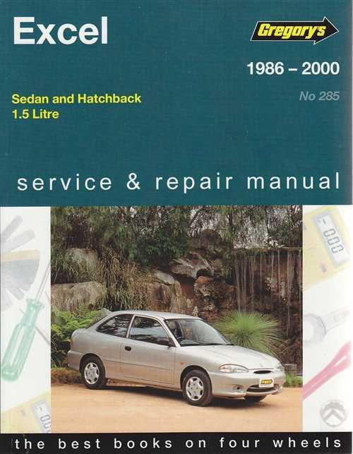 Hyundai Excel 1986 - 2000 Gregorys Owners Service & Repair Manual
