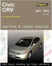 Honda Civic & CRV 2001 - 2010 Gregorys Owners Service & Repair Manual