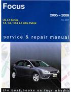 Ford Focus LS & LT Series 2005 - 2009 Gregorys Owners Service & Repair Manual