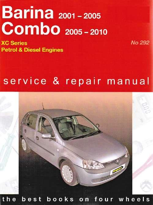 Holden Barina & Combo (Petrol & Diesel) 2001 - 2010 - Front Cover