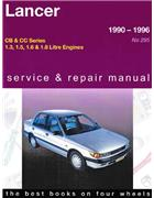 Mitsubishi Lancer 1990 - 1996 Gregorys Owners Service & Repair Manual