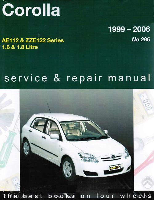 Toyota Corolla 1999 - 2006 Gregorys Owners Service & Repair Manual - Front Cover