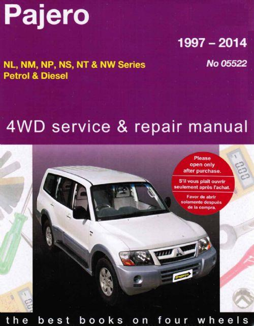 Mitsubishi Pajero 4WD Petrol & Diesel 1997 - 2014 - Front Cover