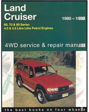Toyota Land Cruiser 60, 70, 80 Series 1980 - 1998 4WD Service & Repair Manual