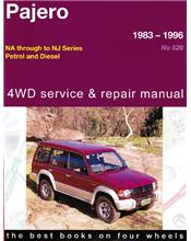 Mitsubishi Pajero 4WD 1983 - 1996 Gregorys Owners Service & Repair Manual
