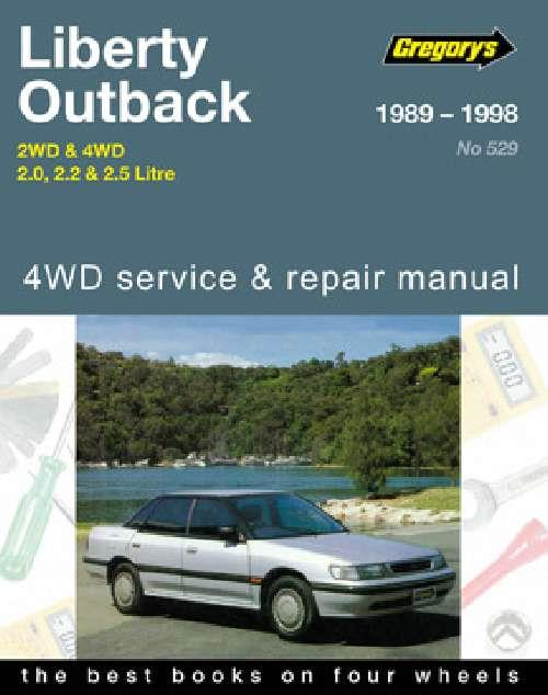 Subaru Liberty / Outback 2WD & 4WD 1989 - 1998 - Front Cover