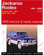 Holden Rodeo & Jackaroo 4WD 1991 - 2002 Gregorys Owners Service & Repair Manual
