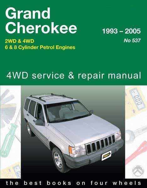Jeep Grand Cherokee 2WD & 4WD (Petrol) 1993 - 2005 - Front Cover