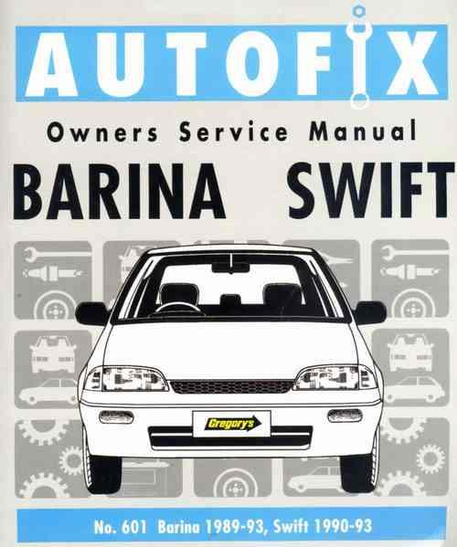 Suzuki Swift & Holden Barina 1989 - 1993 Autofix Owners Service Manual