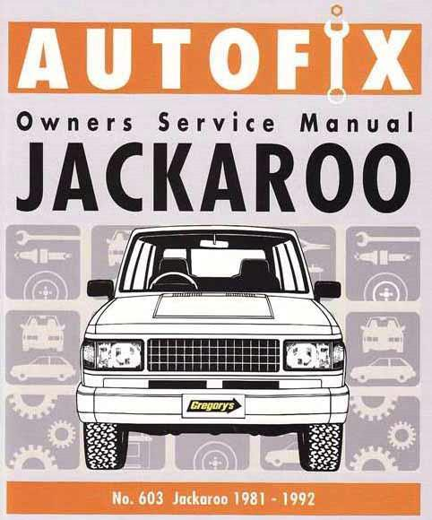 Holden Jackaroo Petrol 1981 - 1992 Autofix Owners Workshop Manual - Front Cover