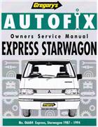 Mitsubishi Express Starwagon 1987 - 1994 Autofix Owners Service & Repair Manual