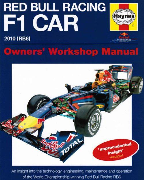 Red Bull Racing F1 2010 (RB6) Car Owners Workshop Manual - Front Cover