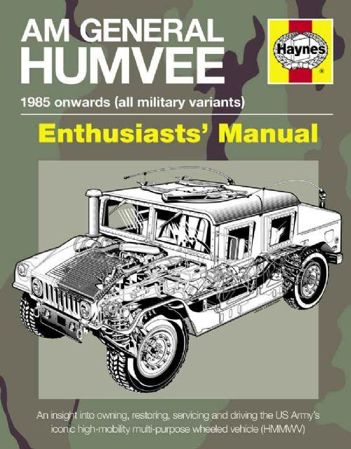 AM General Humvee 1985 Onwards (All Military Variants) Enthusiasts Manual - Front Cover