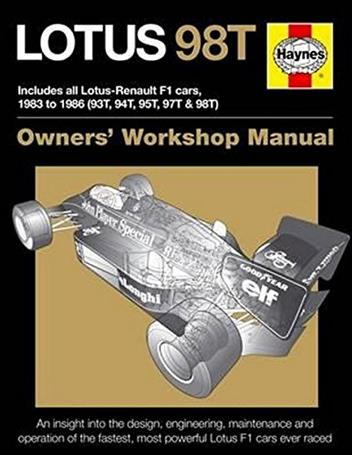 Lotus 98T 1983 - 1986 Owners Workshop Manual - Front Cover
