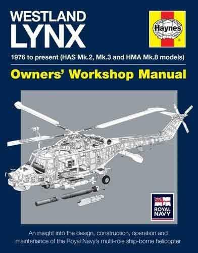 Westland Lynx 1976 to Present Haynes Owners Workshop Manual - Front Cover