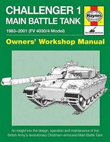Challenger 1 Main Battle Tank 1983 - 2000 (Model Fv4030/4) - Front Cover