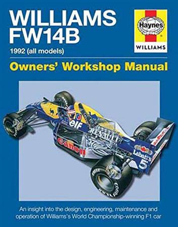 Williams FW14B 1992 (All Models) Owners Workshop Manual - Front Cover