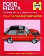Ford Fiesta 1976 - 1983 Haynes Owners Service & Repair Manual - Front Cover
