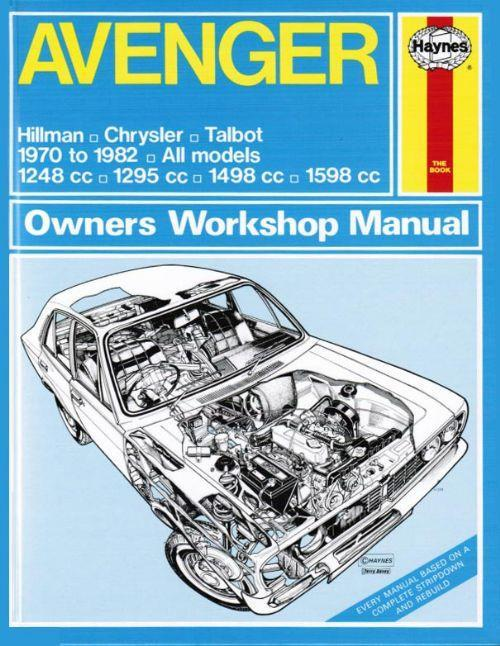 Hillman Avenger Chrysler Talbot 1970- 1982 Haynes Owners Service & Repair Manual - Front Cover