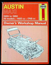 Austin Maxi 1969 - 1981 Haynes Owners Service & Repair Manual - Front Cover