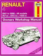 Renault 4 1961 - 1986 Haynes Owners Service & Repair Manual