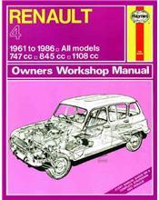 Renault 4 1961 - 1986 Haynes Owners Service & Repair Manual