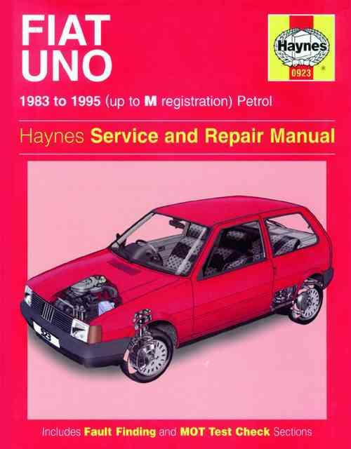 Fiat Uno Petrol 1983 - 1995 Haynes Owners Service & Repair Manual - Front Cover