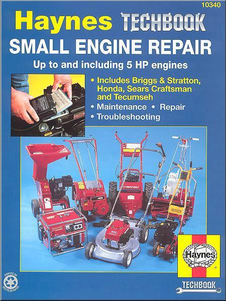 Small Engine Repair Manual Up To 5hp Haynes Techbook - Front Cover