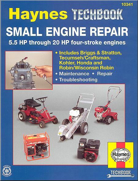 Small Engine Repair : 5.5 HP Thru 20 HP Four Stroke Engines : Haynes Techbook - Front Cover