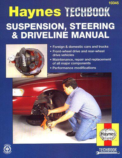 Suspension, Steering and Driveline Manual : Haynes Techbook - Front Cover