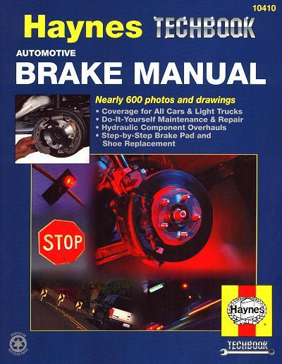 Automotive Brake Manual : Haynes TechBook - Front Cover