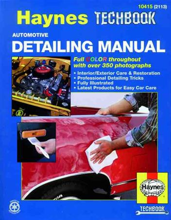 Automotive Detailing Manual : Haynes Techbook - Front Cover