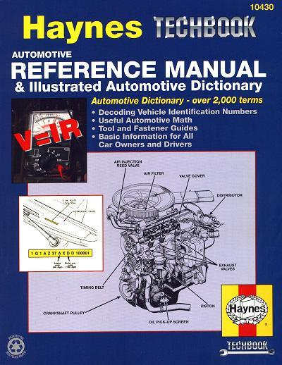 Automotive Reference Manual & Illustrated Automotive Dictionary - Front Cover