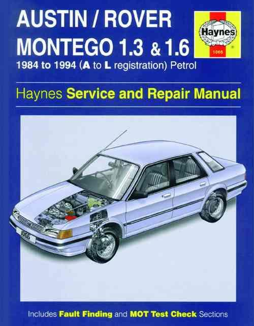 Austin / Rover Montego Petrol 1984 - 1994 - Front Cover