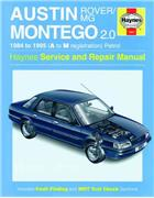 Austin/MG/Rover Montego 1984 - 1995 Haynes Owners Service & Repair Manual