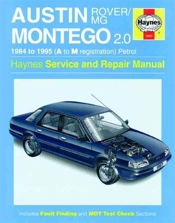 Austin/MG/Rover Montego 1984 - 1995 Haynes Owners Service & Repair Manual - Front Cover