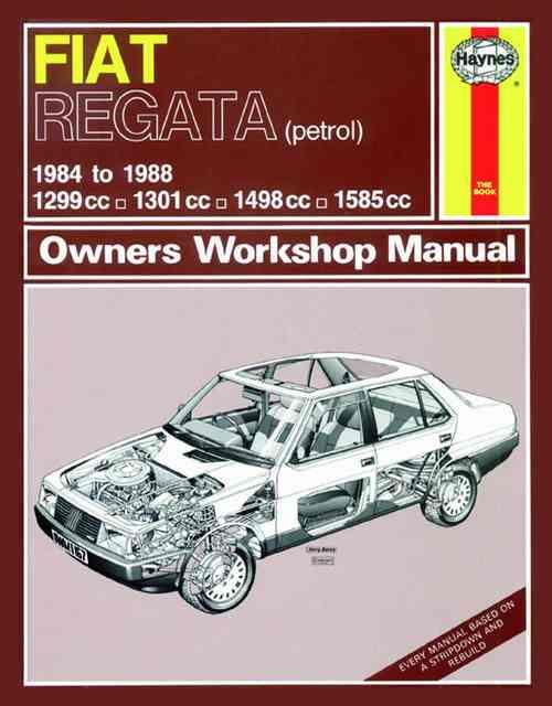 Fiat Regata (Petrol) 1984 - 1988 Haynes Owners Service & Repair Manual - Front Cover