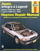 Acura/Honda Integra & Legend 1986 - 1990 Haynes Owners Service & Repair Manual - Front Cover