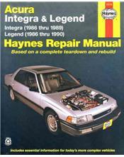 Honda Acura, Integra & Legend (Petrol) 1986 - 1990