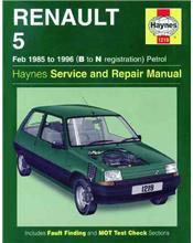 Renault 5 Petrol 1985 - 1996 Haynes Owners Service & Repair Manual