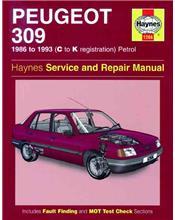 Peugeot 309 Petrol 1986 - 1993 Haynes Owners Service & Repair Manual